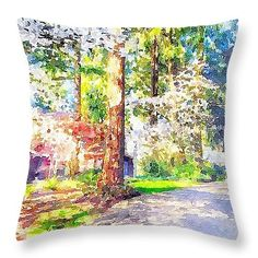 """The Beauty Of Spring In Oregon 16"""" x 16"""" Throw Pillow by Anna Porter.  Multiple sizes available."""