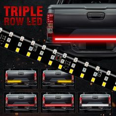 2019 NEW 60inch Triple Row 5 Function Truck Tailgate LED Strip Light Bar With Reverse Brake Turn Signal For Jeep Pickup SUV Dodge From Sara1688, $79.39 | DHgate.Com