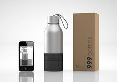 999 bottles: keeps track of your conservation efforts via a dial at the bottom of the bottle that you turn every time you refill along with an app that calculates how much you're helping the environment Vases, Bottom Of The Bottle, Help The Environment, Edc Everyday Carry, Inside Design, Objet D'art, Plastic Bottles, Mind Blown, The Ordinary