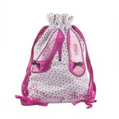 dancing shoes embroidered satin bag