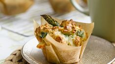 Asparagus and cheese muffins