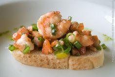 Varanda Restaurante (jantar)    Bruscheta com recheio de camarão marinado