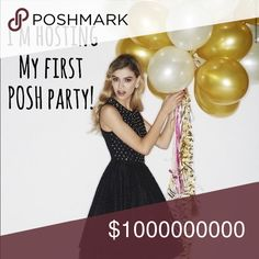 🍾Hosting my FIRST Posh Party!🍾 Party with me Saturday, 9/16 @ 12 PST As I host my very 1st Posh Party!  Looking for Host Picks as I wait to hear the theme. Feel free to tag your friends closet. Please help me spread the word… Share this listing and show your posh love ❤️ Dresses