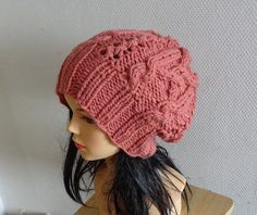 cable knit hat slouchy women and men  High Heat Cap  by Ifonka, $32.00