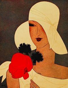 Fashion Illustration Magazine Illustration, c.1927, Leon Benigini