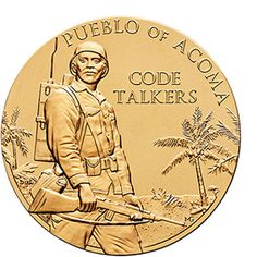 Pueblo of Acoma Tribe Code Talkers Bronze Medal