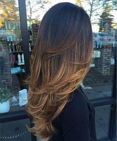 caramel balayage ombré - Hottest Balayage Hair Color Ideas for 2016-2017