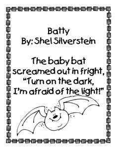 "Poem, ""Batty"" by Shel Silverstein"