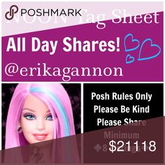 SIGN UP TIL 3pm 💜SUNDAY FUNDAY SHAREBEARS💜 💜All Poshmark Compliant Closets are Welcome! 💜Please tag only your closet name below💜Please share at least 8 For Sale Listings from the closets below💜Please take your time sharing these lovely closets! Sign Up closes at Noon EST but you have throughout the day to complete your POSHLOVE and shares. Please spread joy and love and lift up your fellow SHAREBEARS!💜  Please remember to sign out when finished and have FUN!💜💜 Miss Me Jeans Flare…