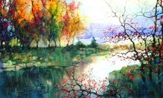 Paintings that melt me on the inside. Only a paint brush or dream could take me to a place like this   Artist -ZL.Feng