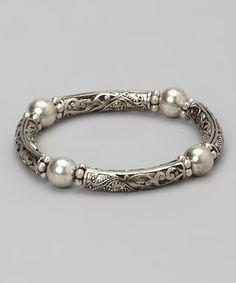 Loving this Silver Filigree Bracelet on #zulily! #zulilyfinds