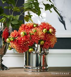 Discover unique decorative ideas for your home. HomeSense has a fine selection of Bed and Bath & Home Décor products at great prices. Find a HomeSense store near you. Homesense, Harvest Decorations, Centrepieces, Warm And Cozy, Fall Decor, Flower Arrangements, Ali, Glass Vase, Christmas Gifts