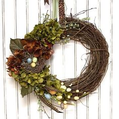Great spring decorating idea for my grapevine wreath