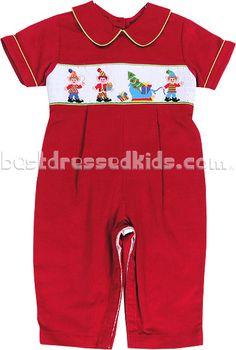 Newborn Smocked Elves Corduroy Coverall Little Boy Outfits, Baby Boy Outfits, Little Boys, Cute Outfits, Kids Christmas Outfits, Christmas Clothes, Baby Girl Fashion, Elves, Corduroy