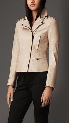 Burberry London Lambskin Biker Jacket