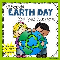 Mant free printables and activities to use for Earth Day for preschool, pre-K and Kindergarten Fun Classroom Activities, Preschool Books, Free Preschool, Preschool Science, Preschool Printables, Kindergarten Activities, Free Printables, Interactive Learning, Earth Day