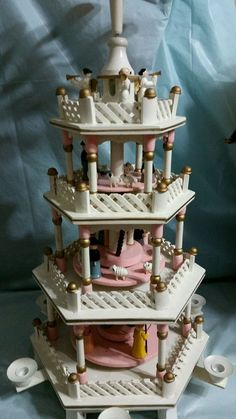 Vintage 4 tier Weihnachtspyramide pyramid Nativity candle windmill in Collectibles, Holiday & Seasonal, Christmas: Modern (1946-90) | eBay