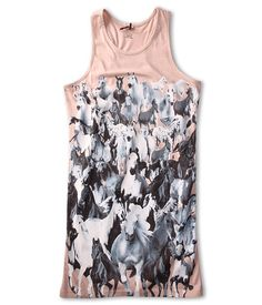 Stella McCartney Kids Mia Girls Tank Dress w/ Horse Graphic (Toddler/Little Kids/Big Kids)