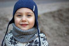 Alpaca snood knit light gray scarf  knitted kids alpaca