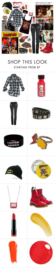 """Mallrats"" by aquabatgirl ❤ liked on Polyvore featuring Madewell, Zadig & Voltaire, DC Shoes, Punky Pins, Dr. Martens, NYX, Natura Bissé, NARS Cosmetics, MISCHA and Hourglass Cosmetics"