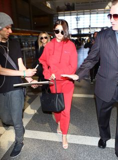 March 7: Selena arriving at LAX airport in Los Angeles, California