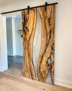 Wood Resin Table, Epoxy Resin Wood, Wood Table, Resin Furniture, Custom Wood, Rustic Design, Wood Doors, Door Design, Wood Projects