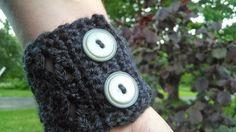 Grey Lace Cuff Bracelet by MaBsBoutique on Etsy, $12.00