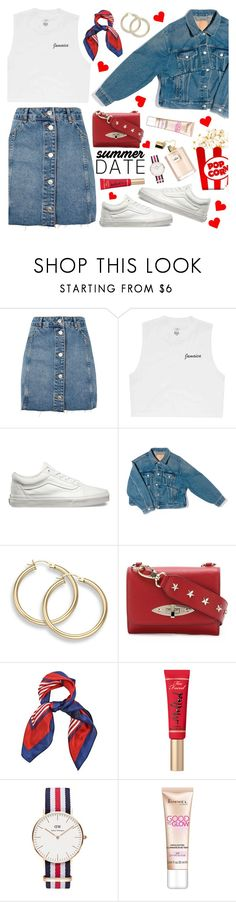 """Cinema Date Night 7-7-2017"" by anamarija00 ❤ liked on Polyvore featuring Topshop, Billabong, Vans, Balenciaga, RED Valentino, Daniel Wellington, Rimmel, cinema, summerdate and summerinspo"