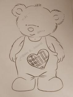Arte * Vida: Ursinho Coração