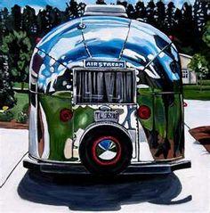 1964 Airstream Bambi My dream camper! Airstream Bambi, Airstream Campers, Retro Campers, Cool Campers, Vintage Airstream, Vintage Caravans, Vintage Travel Trailers, Camper Trailers, Vintage Campers