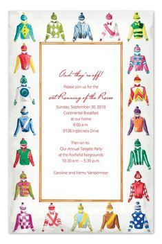 JOCKEY JERSEYS HORSE RACING PARTY INVITATION