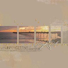 #papercraft #scrapbook #layout. Ellison_Sunset