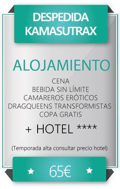 Pack 65€ cena temática y hotel.