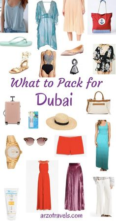 Top things to do in Dubai. Including travel inspiration & tips : Illustration Description What to pack for Dubai. The stylish way. Fashion – Read More – Dubai Vacation, Dubai Travel, Dubai Trip, Beach Travel, Abu Dhabi, Packing List For Travel, Shopping Travel, Packing Lists, Travel Tips