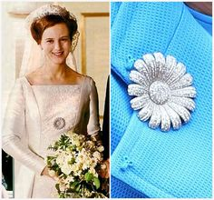 The daisy brooch,  which was a wedding gift to Queen Ingrid from her father in honor of her mother – Margaret's nickname was Daisy, as is Queen Margrethe's. Ingrid later gave the brooch to Margrethe, and she now wears it regularly.