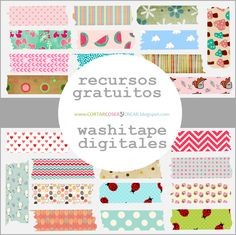 Recursos gratuitos: Washitapes digitales