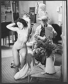 Matisse dessinant son modèle dans l'atelier que lui avait prêté Mrs. Callery a la Villa d'Alésia