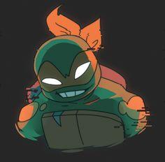 Ninja Turtles Art, Cute Turtles, Teenage Mutant Ninja Turtles, Miguel Angel, Turtle Tots, Tmnt Mikey, Tmnt 2012, Michelangelo, Cute Art