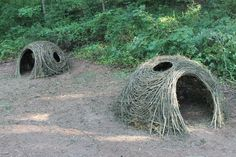 Creative Play space . Stick sculptures for kids by Kelly Brown, Bower Bird Sculpture.