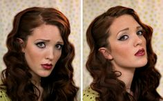The Freckled Fox : Sweetheart Hair Week: Tutorial #1 - Classic Bombshell. Love all of her hair tutorials!!!!