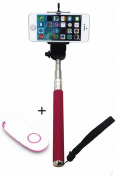 KINGCO Extendable Self-portrait Wireless Bluetooth Remote Camera Shooting Shutter Monopod Selfie Handheld Stick Pole with Mount Holder for IOS Android Smartphone Tablet(Rose Monopod with Shutter New Rose) Extendable handheld selfie stick for iphone 4 5 5s, samsung S3 S4 Ajustable phone adapter fits all phone width less than 8.5 cm Easy self-timer-- any angle, long distance, no hand to twist or shaking. Freely to enjoy photographing Fast photograph: with the shutter button design