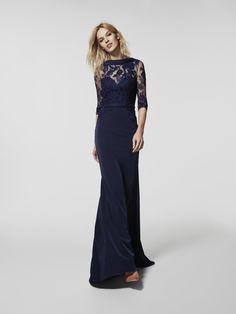Foto vestido de fiesta azul (62062)