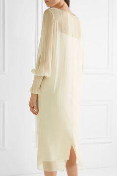 The Row | Maver silk-gerogette midi dress | NET-A-PORTER.COM