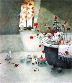 The Illustrated Book Image Collective: Rebecca Dautremer, a French Illustrator born She is known for her poetic and humorous children's books Art And Illustration, Art Fantaisiste, Album Jeunesse, Creation Art, Book Images, Whimsical Art, Graphic, Childrens Books, Illustrators
