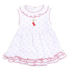 Magnolia Baby Strawberry Fields Embroidered Dress Set