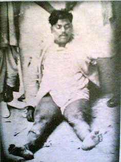 A dead Chandra Sekhar Azad Solute to his Amazing  spirits...Jai hind,