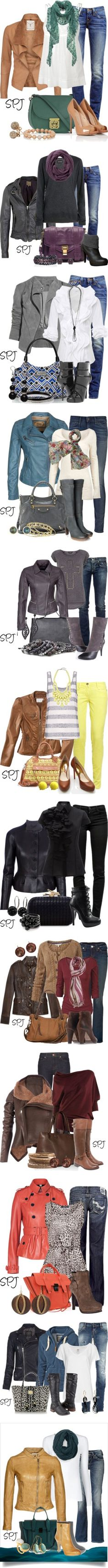 """Leather Jacket Love"" by s-p-j ❤ liked on Polyvore"