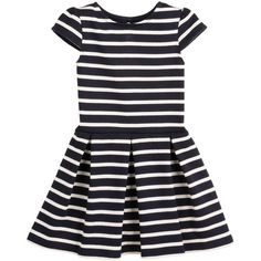 Petit Bateau Jersey Dress In Navycream Stripes || Igloo Kids Clothing ❤ liked on Polyvore featuring dresses, kids, baby, children and baby girl