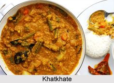 Khatkhate Curry is an exotic mixed vegetable stew of Goan cuisine. Khatkhate is a Goan and Konkani dish. For the recipe visit the page. #food #recipes #vegetarian