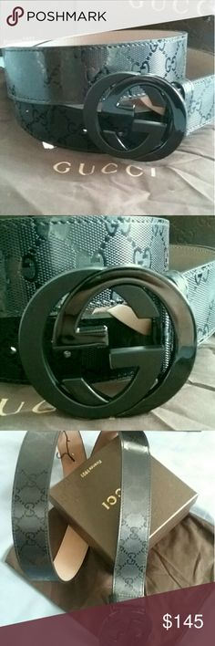 🌟Authentic Gucci Belt Black Guccissima Print 🌟Brand New Gucci Belt Black Guccissima with Silver GG Buckle. HOT! Comes with tags, dust bag, box and shopping bag. All sizes available. Fast same day shipping! Gucci Accessories Belts